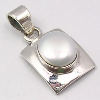Pandantiv Argint 925 cu Perla Fresh Water 2.7 cm lungime
