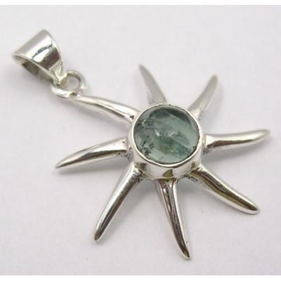 Pandantiv din Argint cu Apatit 3,3 cm