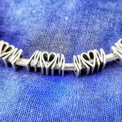 Talisman Argint 925 rodiat Mom Inima