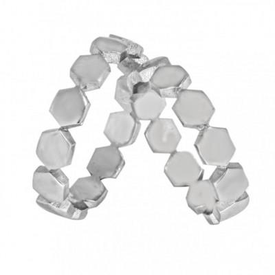 Verighete din Argint 925 rodiat. Cod: BYZ1504