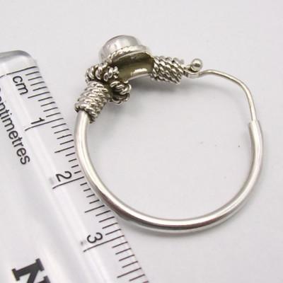 Cercei Argint 925 cu Carnelian, 3.1 cm lungime
