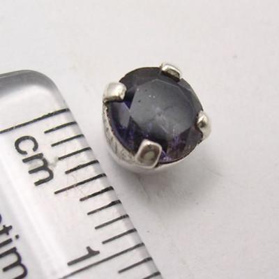 Cercei Argint 925 cu Iolit, 0.7 cm lungime