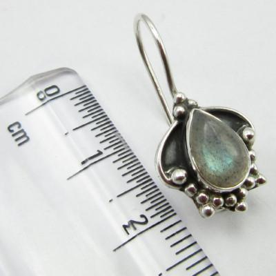 Cercei Argint 925 cu Labradorit 2.5 cm lungime