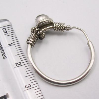Cercei Argint 925 cu Labradorit, 3.1 cm lungime