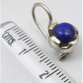 Cercei Argint 925 cu Lapis Lazuli, 1.8 cm lungime