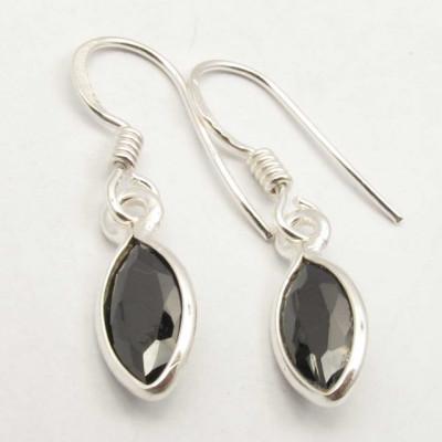 Cercei Argint 925 cu Onix Negru, 3 cm lungime