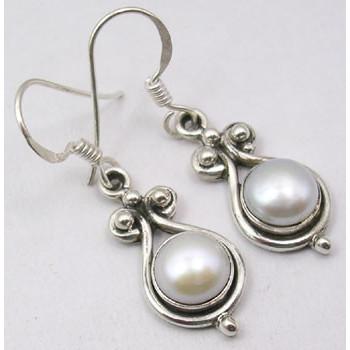 Cercei Argint 925 Cu Perla FreshWater , 3.5 cm lungime
