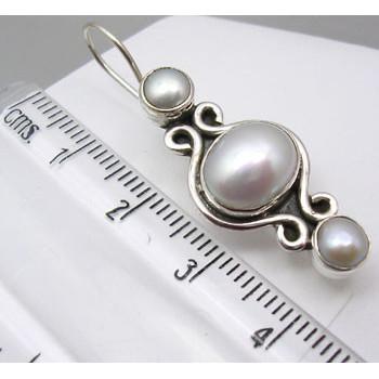 Cercei Argint 925 cu Perle, 1.5 cm lungime