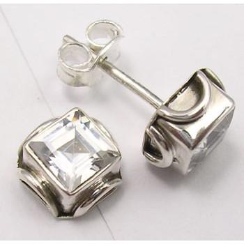Cercei Argint cu Zirconiu Cubic (0,7 cm)