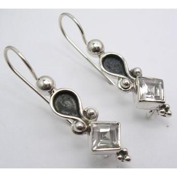 Cercei Argint cu Zirconiu Cubic (3,3 cm)