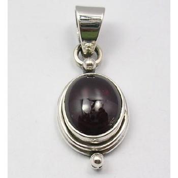 Pandantiv Argint 925 cu Garnet 3,0 cm lungime