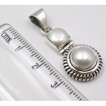 Pandantiv din Argint 925 cu Perla Fresh Water 3.5 cm lungime