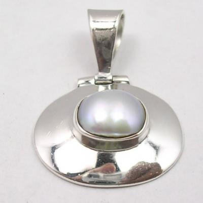 Pandantiv din Argint cu Perla FreshWater 2,7 cm