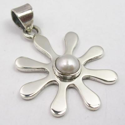 Pandantiv din Argint cu Perla FreshWater 3,4 cm