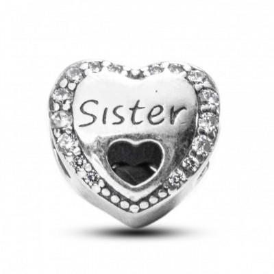 Talisman Argint 925 rodiat Sister si zirconiu