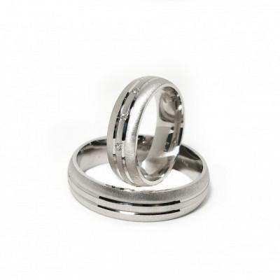 Verighete Argint 925 rodiat si zirconiu- Simulated Diamond-Cod: AT2258