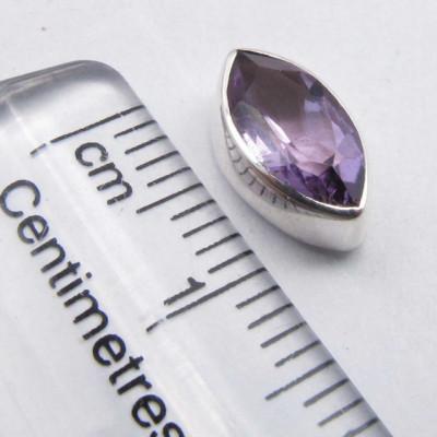 Cercei Argint 925 cu Ametist, 1.1 cm lungime
