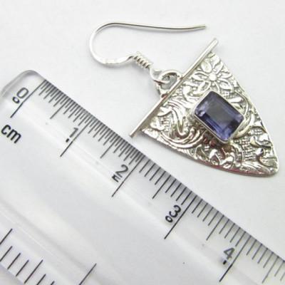 Cercei Argint 925 cu Iolit 3,7 cm lungime