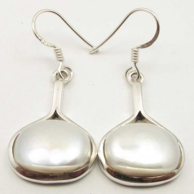 Cercei Argint 925 cu Perla FreshWater 3.9 cm lungime