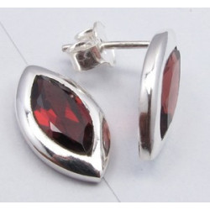 Cercei Argint cu Garnet 1,5 cm