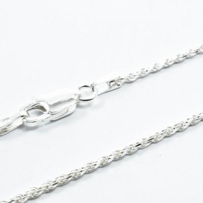 Lant Argint 925 Rope, 45 cm lungime