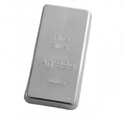 Lingou argint pur 999 1 kg