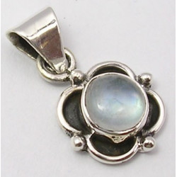Pandantiv Argint 925 cu Piatra Lunii, 2.3 cm lungime
