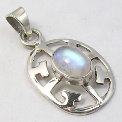 Pandantiv Argint 925 cu Piatra Lunii 3.1cm lungime