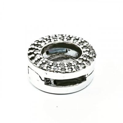 Talisman Argint 925 rodiat Cu Zirconiu Cerc - Simulated Diamond