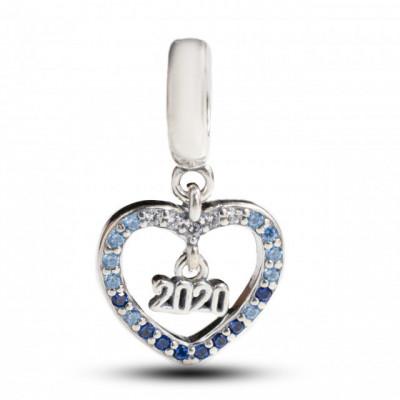 Talisman Argint 925 rodiat Cu Zirconiu Inima 2020