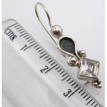 Cercei Argint 925 cu Zirconiu Cubic, 3,3 cm lungime