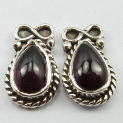 Cercei Argint cu Garnet 1,4 cm