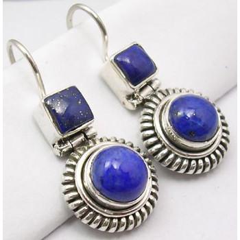 Cercei Argint cu Lapis Lazuli (3,1 cm)