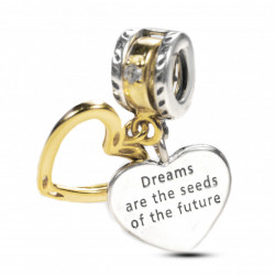 Talisman Argint 925 rodiat Dreams are the seeds of the future