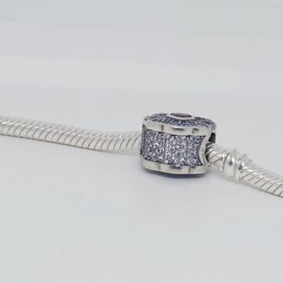Talisman Argint 925 rodiat Evantai cu pietre multicolore Simulated Diamond