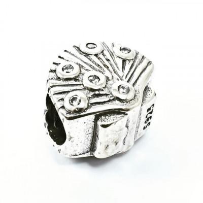 Talisman Argint 925 rodiat Scoica si zirconiu- Simulated Diamond