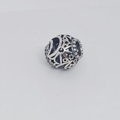 Talisman Argint 925 rodiat Semiluna si stelute Simulated Diamond