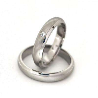 Verighete din Argint 925 rodiat si zirconiu- Simulated Diamond- Cod: AT2470