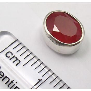 Cercei Argint 925 cu Carnelian, 0.9cm lungime