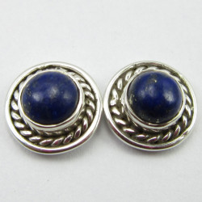 Cercei Argint 925 cu Lapis Lazuli 1 cm lungime