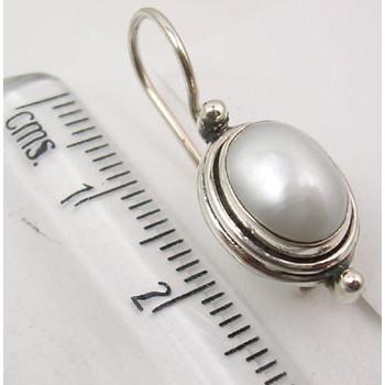 Cercei Argint 925 Cu Perla FreshWater, 2.5 cm lungime
