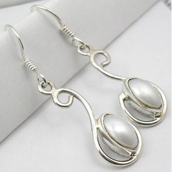 Cercei Argint 925 cu Perla FreshWater , 4.0 cm lungime