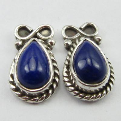 Cercei Argint cu Lapis Lazuli 1,4 cm