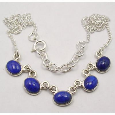Colier din Argint cu Lapis Lazuli