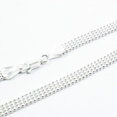 Lant Argint 925 Bead Laser 4R, 50cm lungime