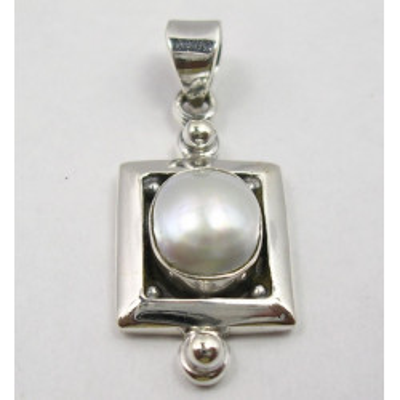 Pandantiv Argint 925 cu Perla FreshWater 3.3 cm lungime