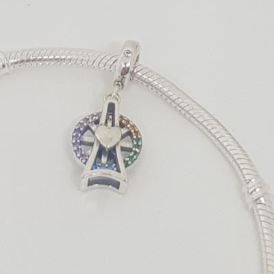 Talisman Argint 925 rodiat Carusel Simulated Diamond