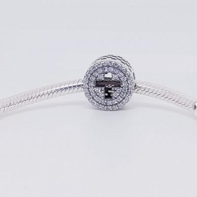 Talisman Argint 925 rodiat Cerc si cruciulita Simulated Diamond
