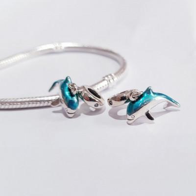 Talisman Argint 925 rodiat Delfin