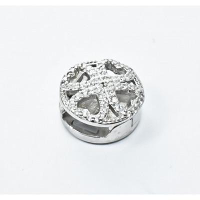 Talisman Argint 925 rodiat Heart cu zirconiu- Simulated Diamond